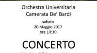 Festeggiamo assieme l'Orto Botanico di Pavia con un concerto presso il Chiostro con musiche di Telemann e Mozart, Sabato 20 maggio 2017, alle ore 10.