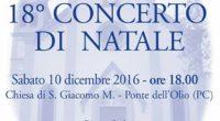Sabato 10 dicembre 2016 la Camerata de' Bardi sarà a Ponte dell'Olio (PC) con il coro Voci d'Accordo e i Piccoli Cantori di Ponte dell'Olio! Vi aspettiamo!