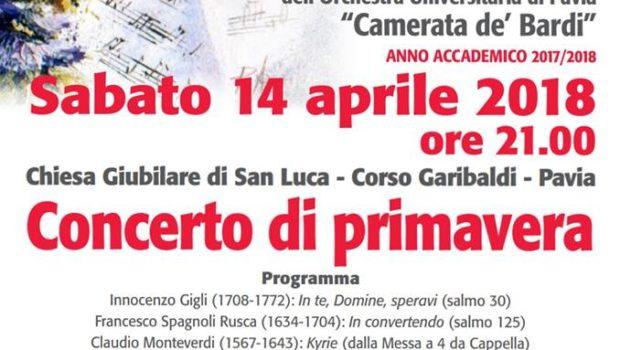 Sabato 14 aprile 2018, alle ore 21.00, presso la Chiesa Giubilare di San Luca, a Pavia (Corso Garibaldi), si terrà concerto con l'Orchestra Universitaria Camerata de' Bardi e il Coro […]